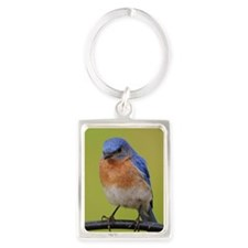1100x1500eastern bluebird Portrait Keychain