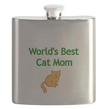 Worlds Best Cat Mom Flask