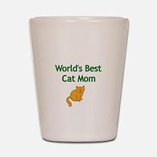 Worlds Best Cat Mom Shot Glass