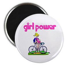 Girl Power Bike Riding Magnet