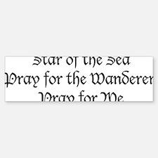 Star_of_the_Sea_Prayer Sticker (Bumper)