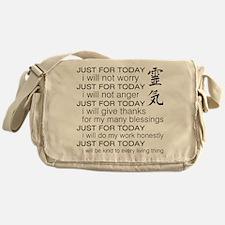 JUST FOR TODAY BLACK Messenger Bag