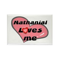 nathanial loves me Rectangle Magnet