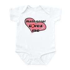 nathanial loves me  Infant Bodysuit