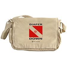 CAUTION: Diaper Down! Messenger Bag