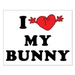 I Love My Bunny Small Poster
