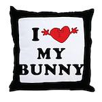I Love My Bunny Throw Pillow