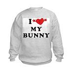 I Love My Bunny Kids Sweatshirt