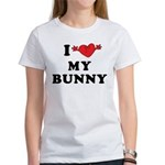 I Love My Bunny Women's T-Shirt