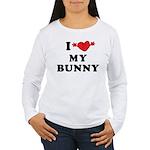 I Love My Bunny Women's Long Sleeve T-Shirt
