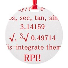 RPI Fight Song Ornament