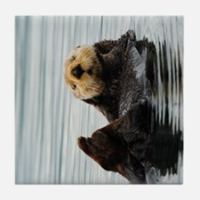 TabletCases_seaotter_2 Tile Coaster