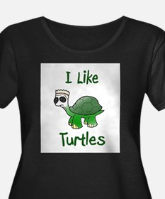 i like turtles Plus Size T-Shirt