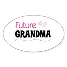 Future Grandma Oval Decal