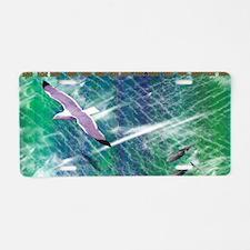 IRISH-SEA-BEACH-BAG Aluminum License Plate