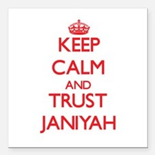"""Keep Calm and TRUST Janiyah Square Car Magnet 3"""" x"""