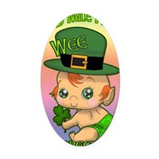 100-THOUSAND-WELCOMES-WEE-LEPRECHA Oval Car Magnet
