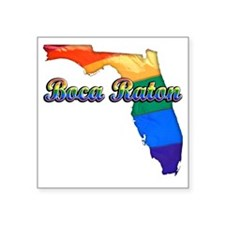 "Boca Raton Square Sticker 3"" x 3"""