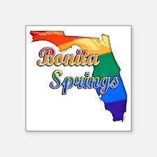 "Bonita Springs Square Sticker 3"" x 3"""
