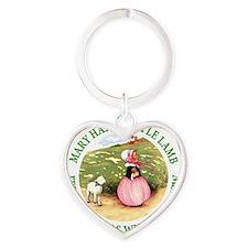 MARY HAD A LITTLE LAMB_GREEN Heart Keychain