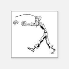 "zombie-carrot2-T Square Sticker 3"" x 3"""