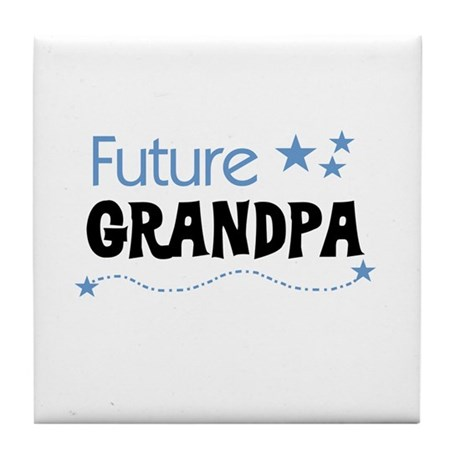Future Grandpa Tile Coaster