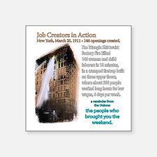 """JobCreators_Triangle_10x10 Square Sticker 3"""" x 3"""""""