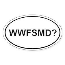 WWFSMD? Oval Bumper Stickers