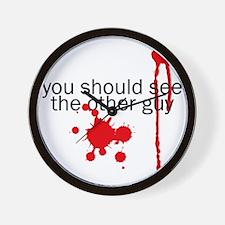 blood_splatter Wall Clock