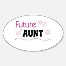 Future Aunt Oval Decal