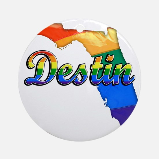 Destin Round Ornament