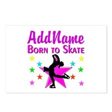 ICE SKATING STAR Postcards (Package of 8)