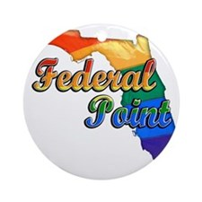 Federal Point Round Ornament