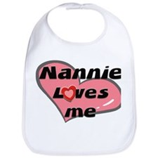 nannie loves me  Bib