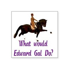"whatwouldgaldotrans Square Sticker 3"" x 3"""
