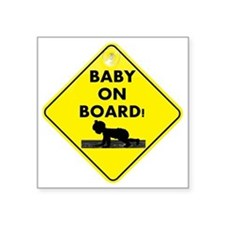 "BabyOnBoard Square Sticker 3"" x 3"""
