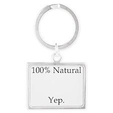100% Natural Landscape Keychain