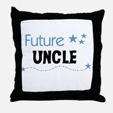 Future Uncle Throw Pillow