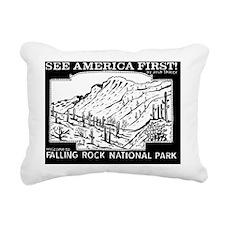 See America First Fallin Rectangular Canvas Pillow