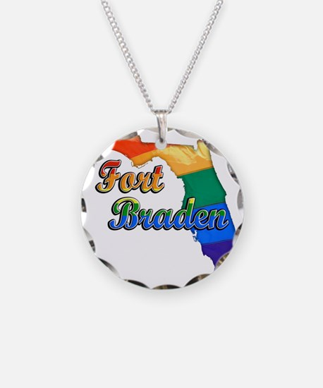 Fort Braden Necklace Circle Charm
