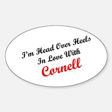 In Love with Cornell Oval Decal
