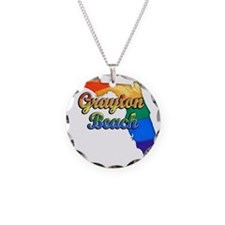 Grayton Beach Necklace Circle Charm
