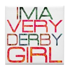 ima very derby girl_2  Tile Coaster