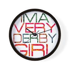 ima very derby girl_2  Wall Clock