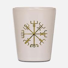 Gold Vegvisir - Viking Compass Shot Glass