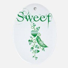 Sweet P vine Oval Ornament
