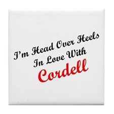 In Love with Cordell Tile Coaster