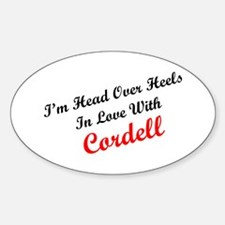 In Love with Cordell Oval Decal