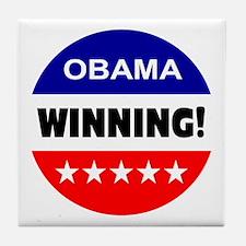 obama... winning! Tile Coaster