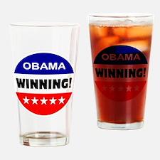 obama... winning! Drinking Glass